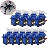 ETopLike 10 Pack SG90 Micro Servo Motor 9G RC Robot Helicopter Airplane Boat Controls