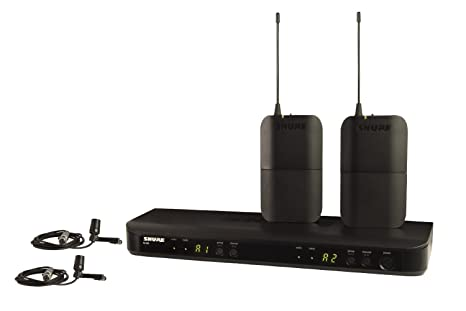 Shure BLX188/CVL-H10 - Sistema inalámbrico con 2 micrófonos de ...