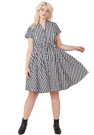 5344393690a34 Ellos Women s Plus Size Sandy Shirtwaist Dress at Amazon Women s ...
