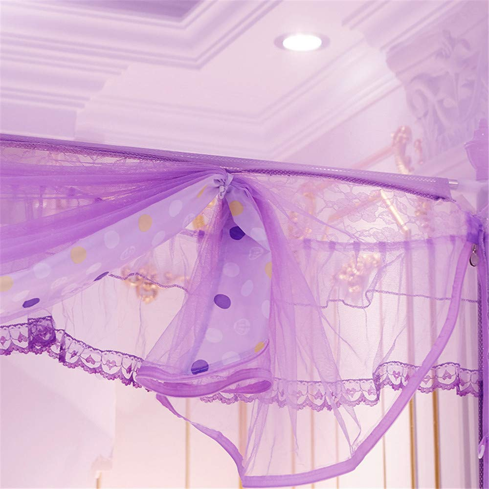 Mosquito net Bedroom Double Bed Insect-Proof Gauze Bills Children's Princess Wind Student Dormitory Summer Decoration Account, Purple, 1.2M by Lostryy-Mosquito Nets Baby (Image #3)