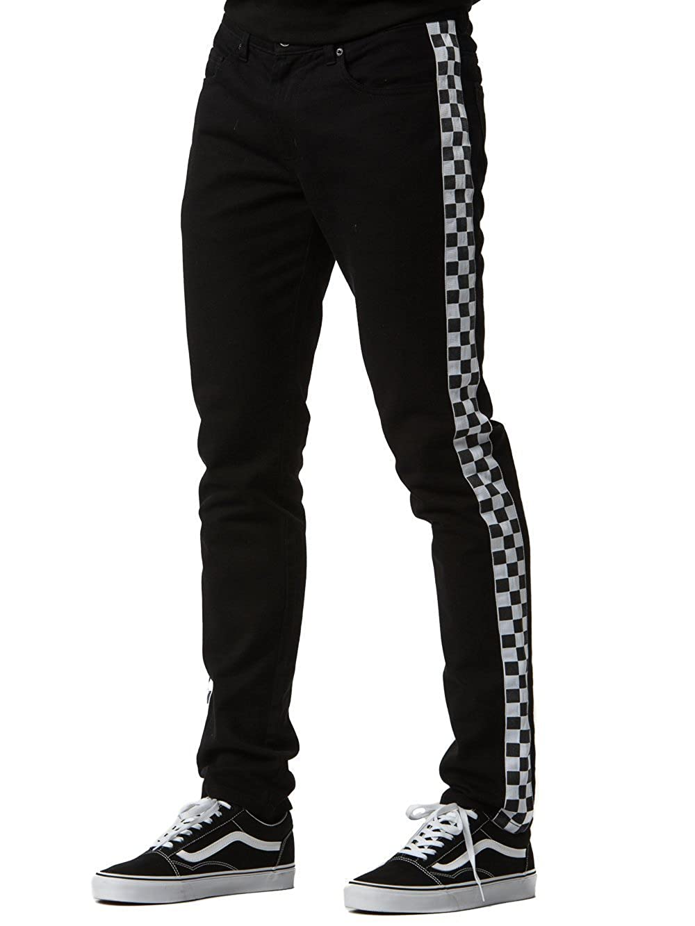 Amazon.com  Young and Reckless - Gasket Jeans - Black White - - Mens -  Bottoms - Denim -  Clothing d11da1414