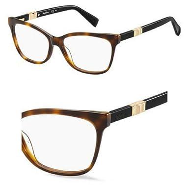 d867ef6dba6 Max Mara Max Mara 1290 0BHZ Havana Rose Gold Eyeglasses at Amazon ...