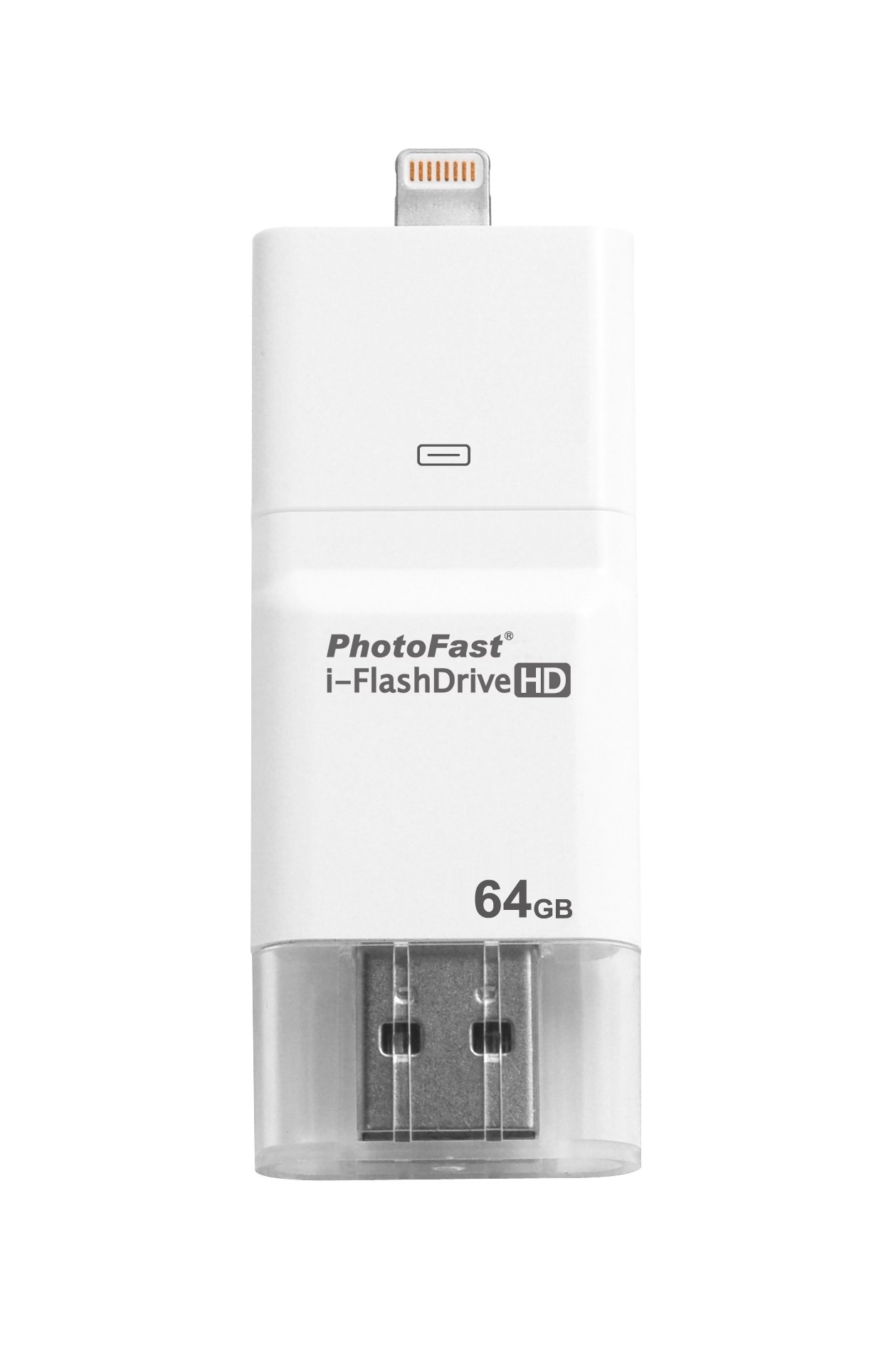 i-FlashDrive HD 64GB with dual storage between iOS and Mac/PC - Apple licensed for iPod/iPhone/iPad (Lightning/30-pin)