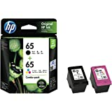 Colour Ink Pack HP Genuine 3JB07AA #65 Black & Tri Colour Ink Combo Pack, (3JB07AA)