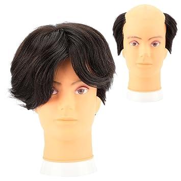 LYTMF Men s Human Hair Wigs Men s Hair Piece Male Hair Weave 100% 2   5.9 quot d7072999f6e6