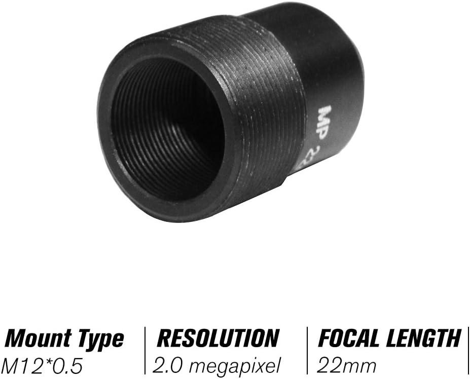 Owsoo Objektiv Hd 2 0 Megapixel Pinhole 22mm Objektiv Cctv Mtv Board Objektiv M12 Mount Objektiv 1 2 7 Zoll Bildformat Blende F1 6 Für Überwachungskamera Baumarkt