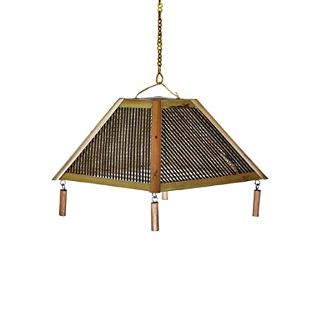 Buy bamboo cane hat shape hanging lamp shade online at low prices bamboo cane hat shape hanging lamp shade aloadofball
