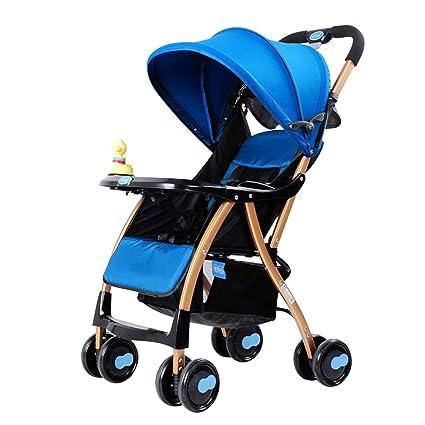 Trolley Light Fold se puede sentar y mentir Sombrilla Car Damping Infantil plegable Convertible Pram Cochecito