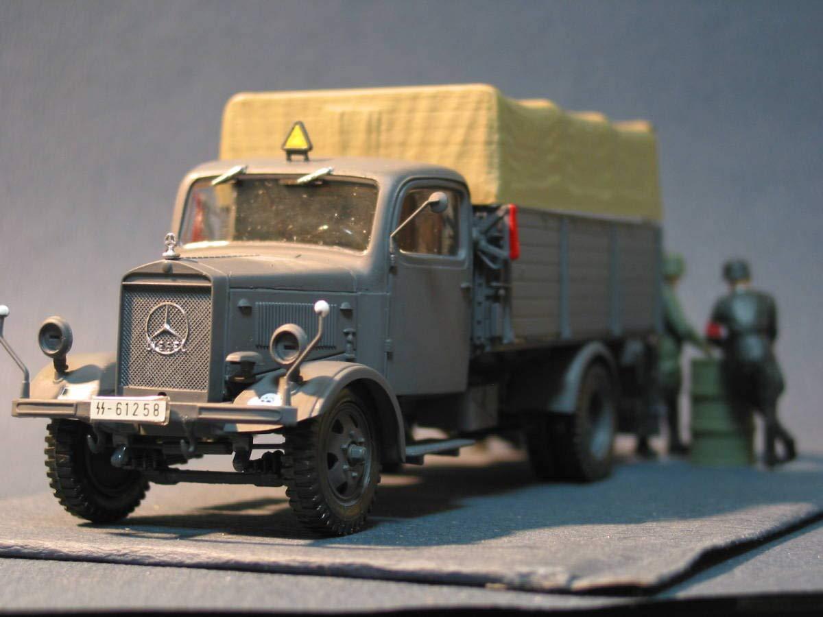 ドイツ軍 メルセデスベンツ3トントラックと親衛隊特別行動隊 1/35完成品 タミヤ ドラゴン イタレリ B07SZV54TB