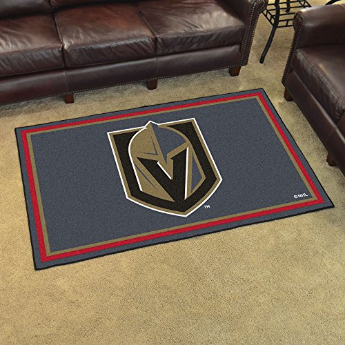 FANMATS NHL Vegas Golden Knights NHL - Vegas Golden Knights4x6 Rug, Team Color, One Sized (Best Carpet Cleaning Las Vegas)