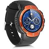 Zeblaze Blitz - 3G Impermeable Ajustable Smartwatch Smartphone Reloj Android 5.1 (Pantalla 1.33'', MTK6580 Quad Core, SIM, Bluetooth 4.0, 4G Rom, WIFI GPS, Cámara 2Mp, Ritmo Cardíaco, Navegador, Podómetro) (Naranja)
