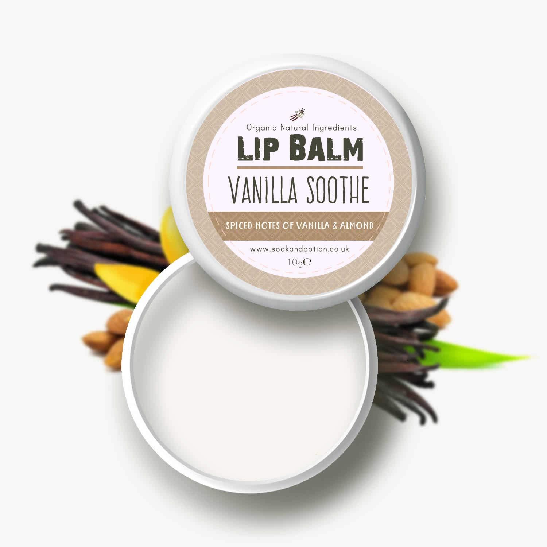 Vanilla Soothe Lip Balm - Moisturising Shea Butter Lip Balm All Natural Ingredients
