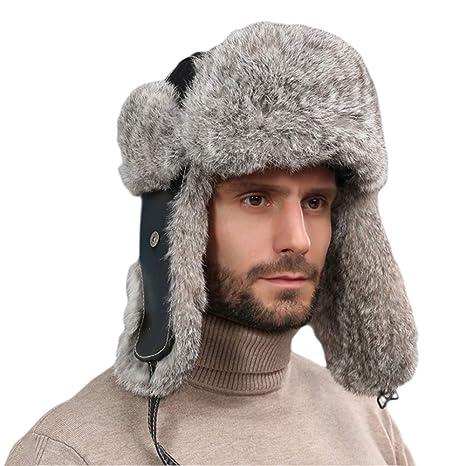 YR-R Berretto di Montone Cappelli Invernali Caldo Cappellino da Ciclismo  Outdoor Cappellino di Pelliccia b45a12cc7b58