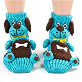 Girl's Cute Princess Set of 2 Animals Knit Christmas Stockings (Sky Blue)