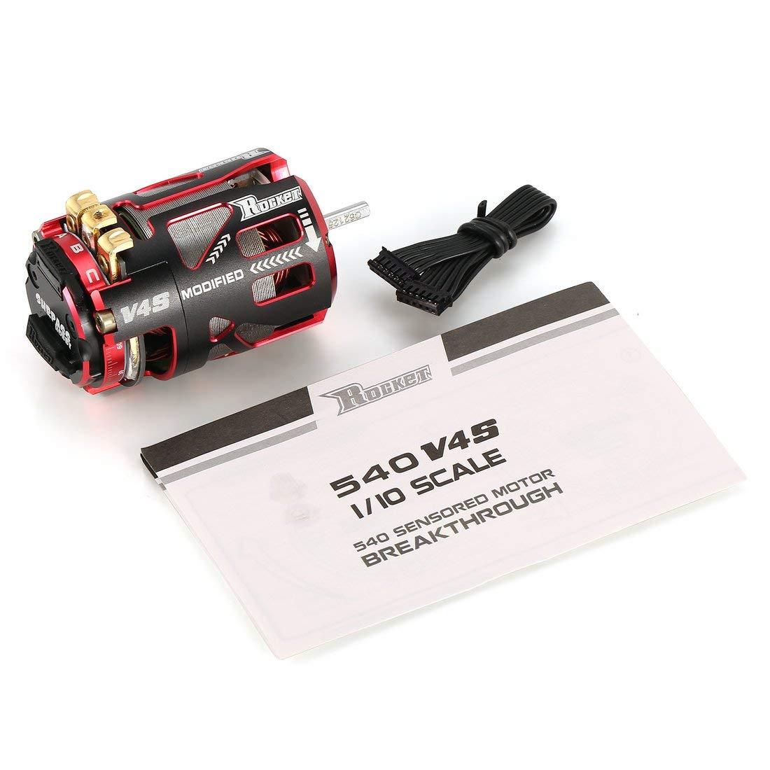 Formulaone SURPASSHOBBY V4S 540 8.5T 540 3.175mm SensoROT Brushless Motor Motor für 1/10 On-Road-Drift-Touring-RC-Car-LKW-Modellteile - Rot & Schwarz