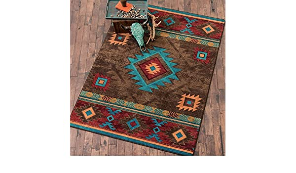 Amazon Whiskey River Turquoise Rug