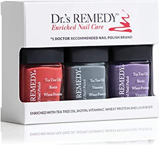 product image for Dr.'s REMEDY Enriched Nail Polish, HAPPY HEALTHY Harvest Trio, ALTRUISTIC Auburn, AMITY Amethyst, STABILITY Steel