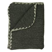 Disana 100% Ogranic Merino Wool Baby Blanket 31.5 x 40 inches Anthracite/Grey Melange