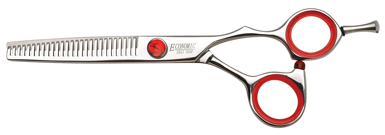 Professional Hair Scissors 5.75 inch Thinning Scissors 27 Teeth Blender Shear Single Blade Comfort Handle Stainless Steel Japanese Craft (5.75