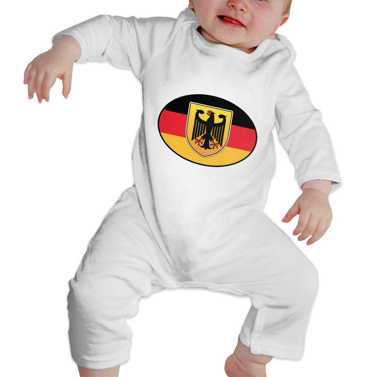 Fasenix Deutschland Germany Romper Jumpsuit Long Sleeve Bodysuit Overalls Outfits Clothes for Newborn Baby Boy Girl