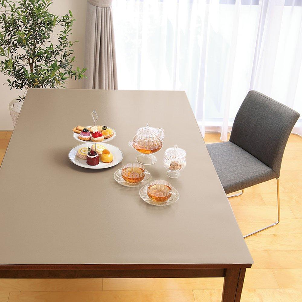 本革調テーブルマット 約90×90cm 651438(サイズはありません イ:グレイッシュブラウン) B07MFGW3J3 イ:グレイッシュブラウン