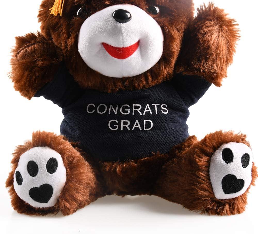 Black hey seven Graduation Bear 10 inch Class of 2020 Stuffed Animal Plush Gift Bear