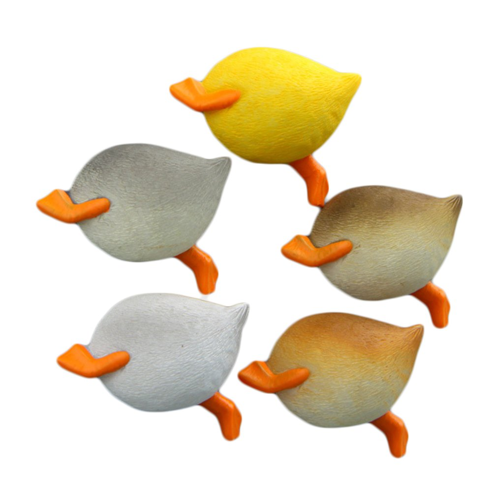 CHOOLD Cute 3D Funny Animal Butt Refrigerator Magnets Office Magnets Calendar Magnet Whiteboard Magnets Home Decoration (Duck,Set of 5)