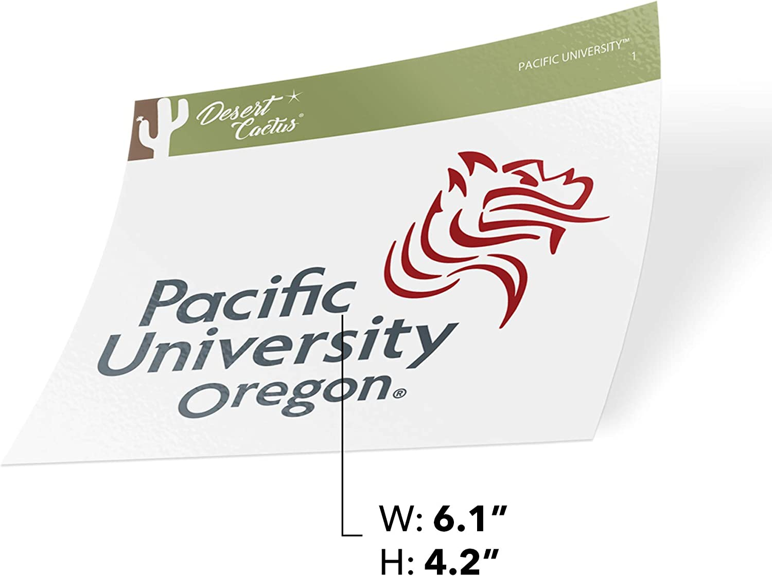 Sticker - 1 Pacific University Boxers NCAA Vinyl Decal Laptop Water Bottle Car Scrapbook