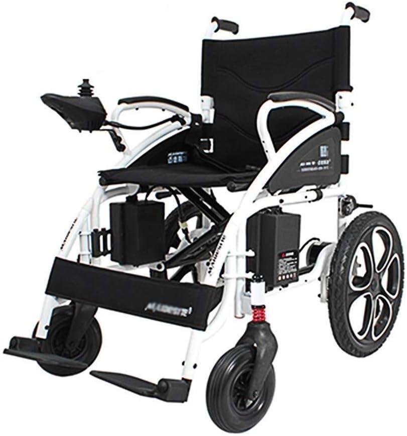 Silla de ruedas eléctrica ligera plegable Silla de ruedas eléctrica inteligente for ancianos Discapacitados Silla de ruedas deportiva compacta Silla de ruedas autopropulsada sillas de ruedas electrica