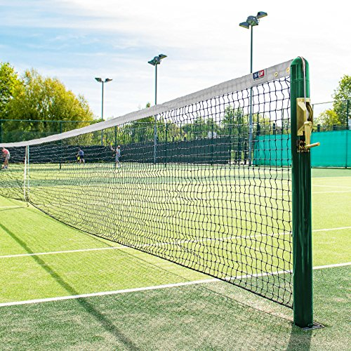 - Vermont 2.5mm Tennis Net (10lbs) | 42ft Doubles Regulation | Braided HDPE Twine | Vinyl-Coated Polyester Fabric Headband | Professional Quality Tennis Nets