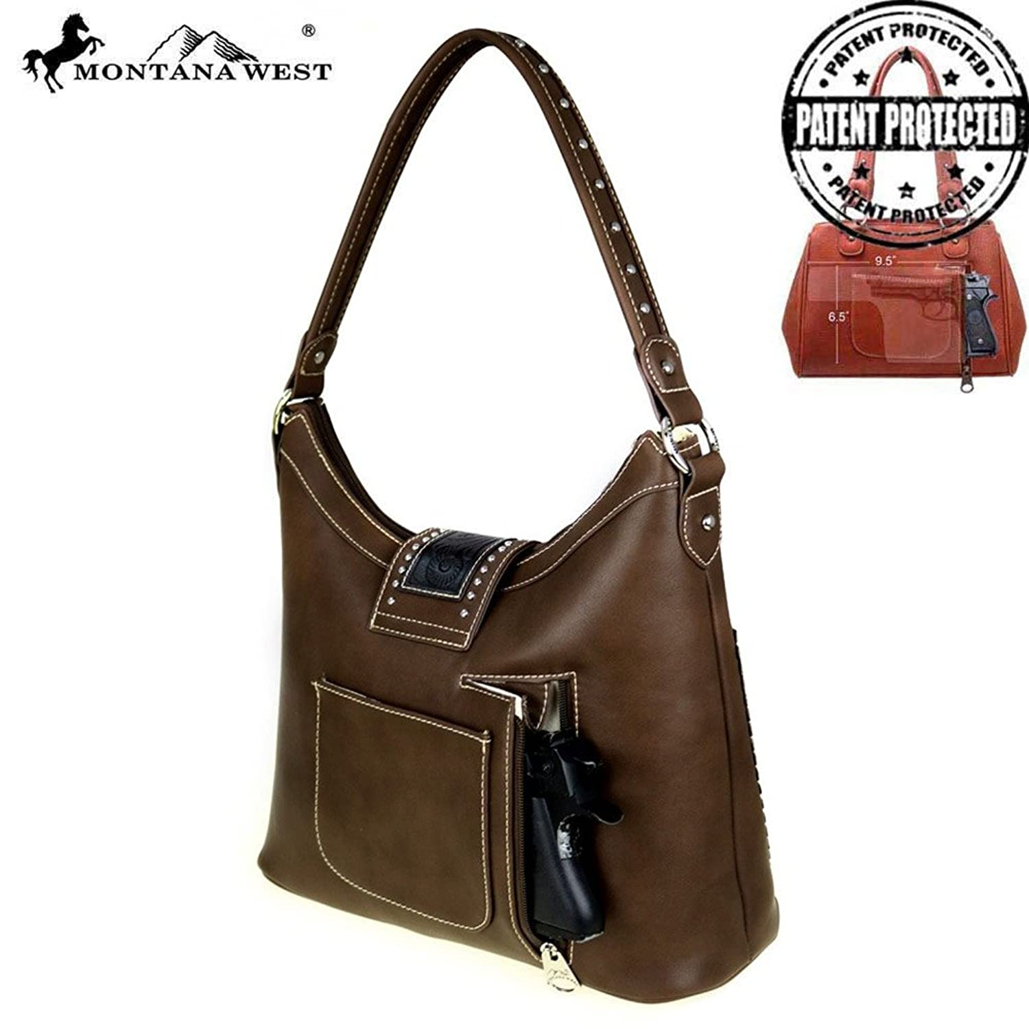 WRLG-116 Montana West Tooling Collection Concealed Hobo in 8 Colors