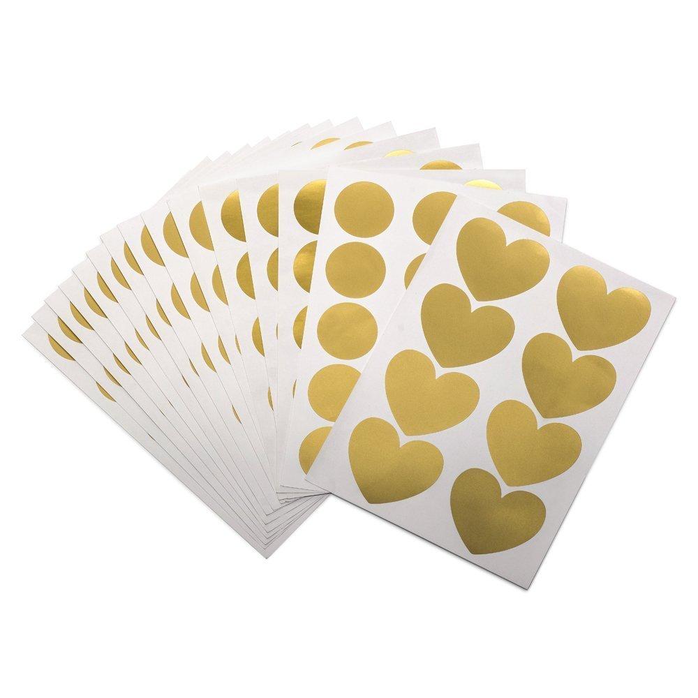 Gold Dots Wall Decal (210 Dots & 8 Heart Decals) , Nursery Wall ...