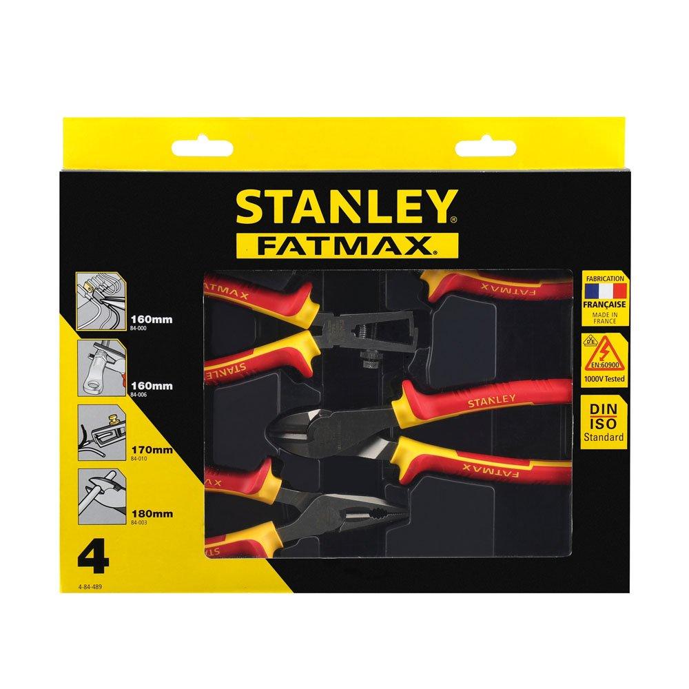 Stanley 4-84-489 Alicates Red////ellow Set de 4 Piezas