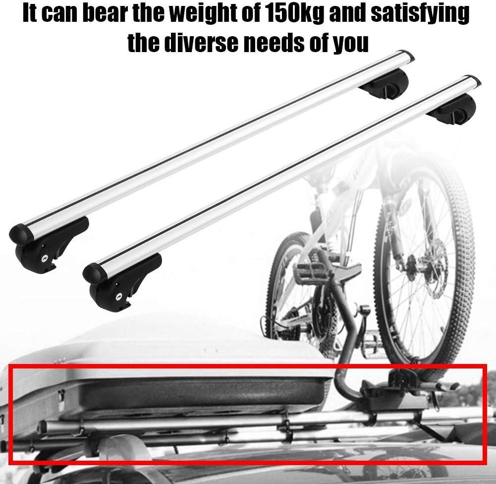 Gewicht von 150 kg tragen 124 EBTOOLS 124cm//133.5cm Universal Alu Relingtr/äger Abschlie/ßbare Schiene Gep/äcktr/äger