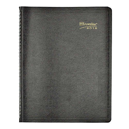 (Brownline 2016 Weekly Planner, Twin-Wire, Black, 11 X 8.5 Inches (CB950.BLK-16))