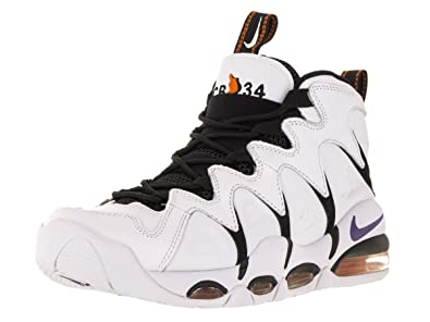 Nike Mens Air Max CB34 White Vrsty Prpl Blk Orng Blz Basketball Shoe 28348ef2a