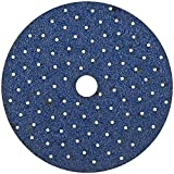 Norton 04038 5-Inch 5 and 8 Hole P220 3X Hook and Loop Discs, 50-Pack