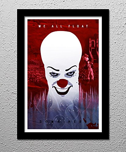 Stephen King's IT Pennywise the Clown - Minimalist Horror Art Poster Print - Penny Art