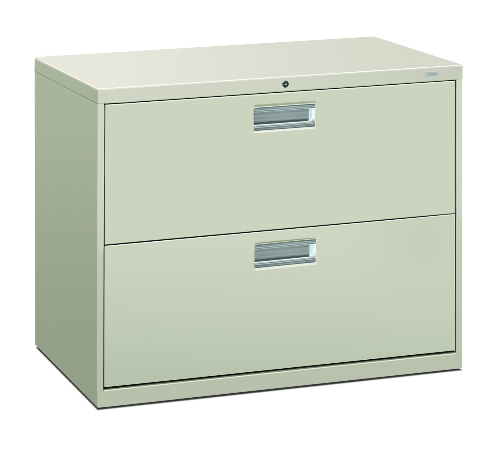HON 682LQ 600 Series 36-Inch by 19-1/4-Inch 2-Drawer Lateral File, Light Gray