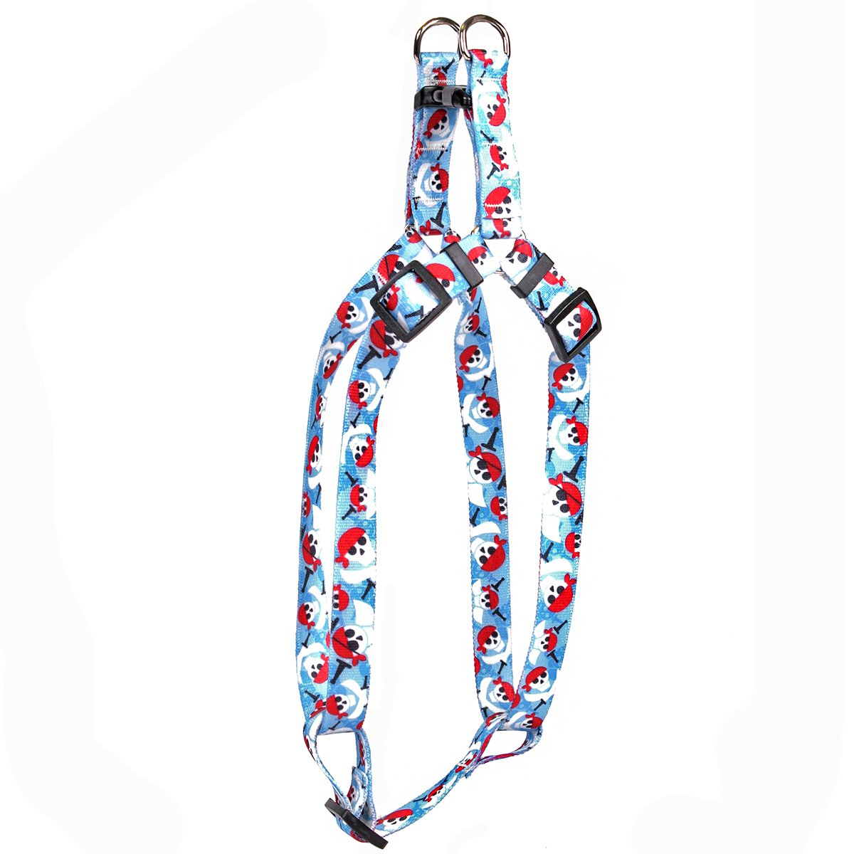 Yellow Dog Design Pirate Skulls Step-in Dog Harness, Medium-3/4 Wide and fits Chest of 15 to 25'' by Yellow Dog Design