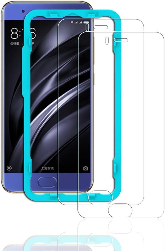 Flos Protector Pantalla Xiaomi Mi6 [2 Piezas] [Fácil de Instalar] [Garantía de por Vida], Cristal Templado 9H Dureza [3D Touch Compatible], Anti-Huella para Xiaomi Mi6: Amazon.es: Electrónica
