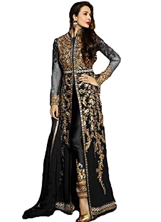 4064d4c220 Amazon.com: Delisa New Indian/Pakistani Designer Georgette Party Wear Anarkali  Suit VF-3: Clothing