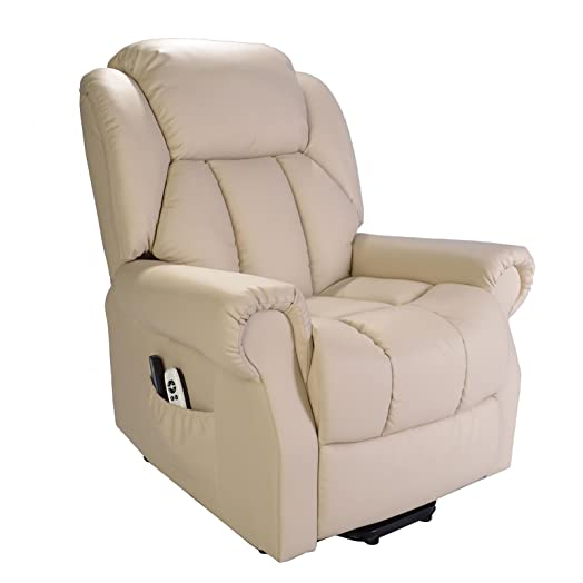 Hainworth Leather Electric powered recliner chair with heat and massage - choice of colours (Cream  sc 1 st  Amazon UK & Hainworth Leather Electric powered recliner chair with heat and ... islam-shia.org