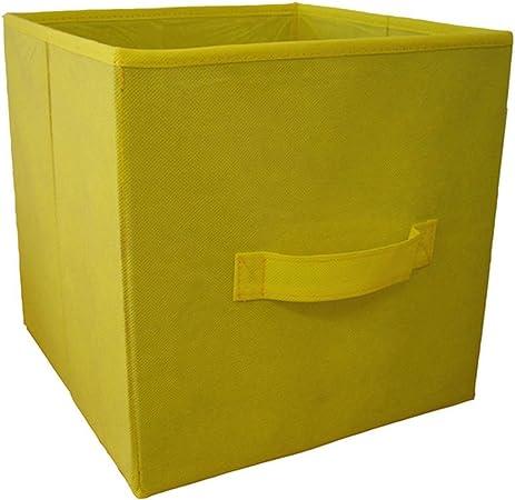 Protenrop Caja de almacenaje, 29 x 29 x 29,5 cm, Color Amarillo, Centimeters: Amazon.es: Hogar