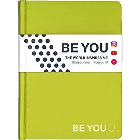 Diario Agenda Be You Verde Slim 2018/19 13,5 X 18,5 Cm ...