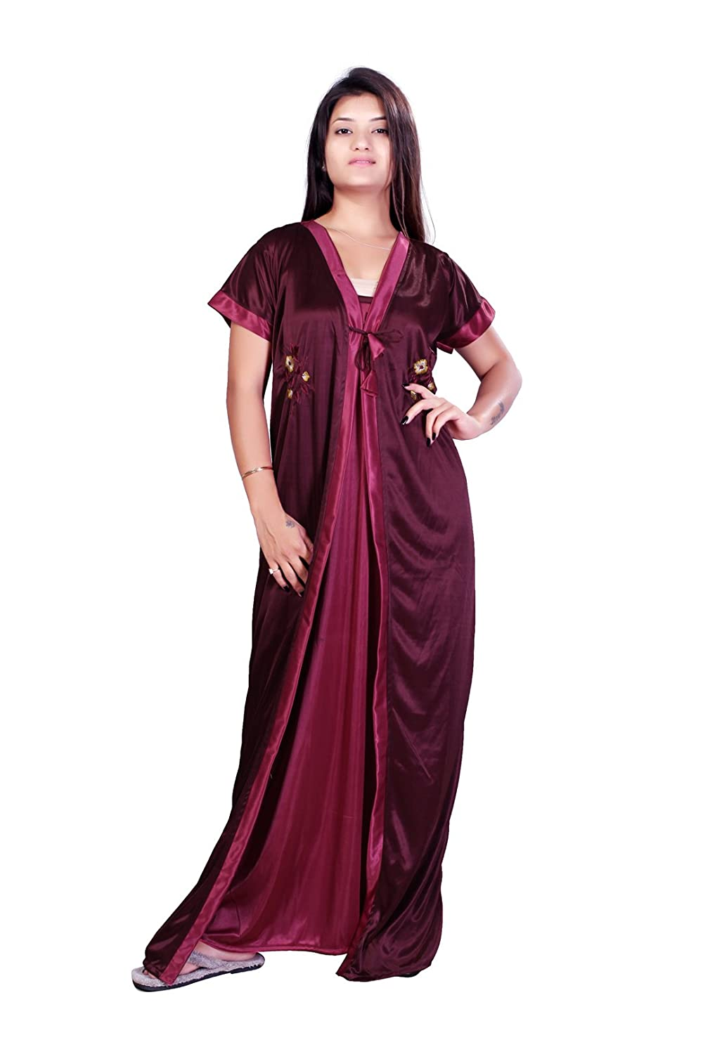 0abe0ee99f5 MAHAARANI Women s Satin Nightdress