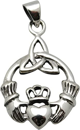 Claddagh Symbole Bijoux Pendentif 925er Argent