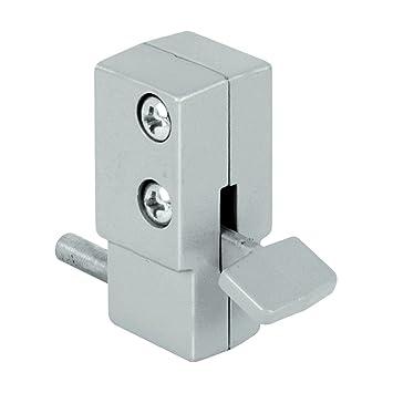 Prime Line Products U 9877 Sliding Door Lock, Aluminum Finish