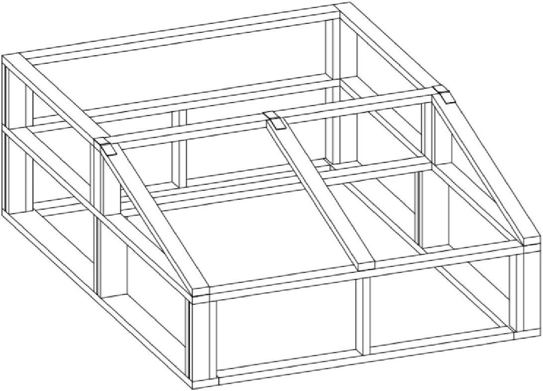 Construir su propio 6 x 8 marco de madera efecto invernadero (DIY) Fun Planes para construir.: Amazon.es: Jardín