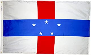 product image for Annin Flagmakers Model 221463 Netherland Antilles Flag 3x5 ft. Nylon SolarGuard Nyl-Glo 100% Made in USA to Official United Nations Design Specifications.